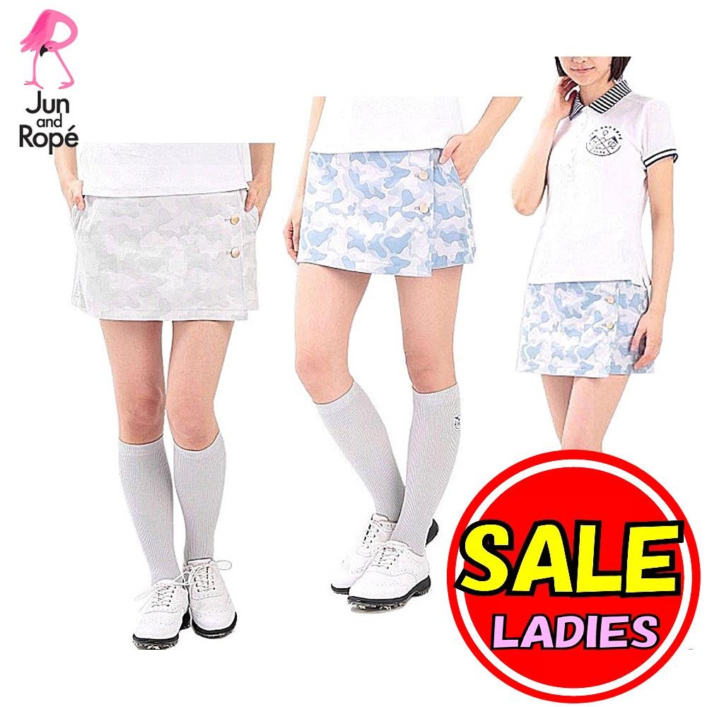 【30%OFF!セール】ジュン&ロペ/ジュンアンドロペ/JUN&ROPE(春夏モデル!)カモフラージュ柄スカート/インナーパンツ付き(レディース)ゴルフウェア
