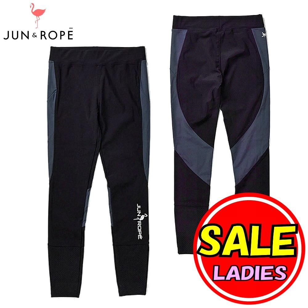 【50%OFF!セール】ジュン&ロペ/ジュンアンドロペ/JUN&ROPE(春夏モデル!)ロゴプリントスポーツレギンス(レディース)ゴルフウェア