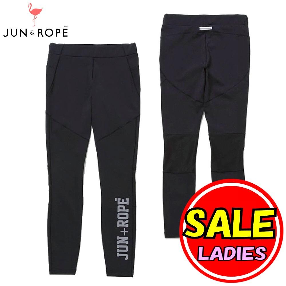 【40%OFF!セール】ジュン&ロペ/ジュンアンドロペ/JUN&ROPE(春夏モデル!)ロゴプリントスポーツレギンス(レディース)ゴルフウェア