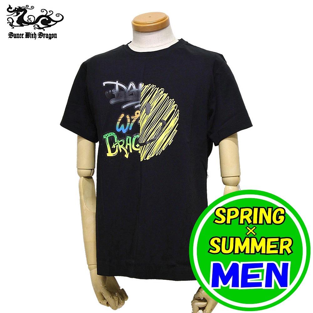 【30%OFF!セール】ダンスウィズドラゴン 春夏モデル! ゴルフウェア/ 半袖シャツ Tシャツ メンズ DANCE WITH DRAGON /