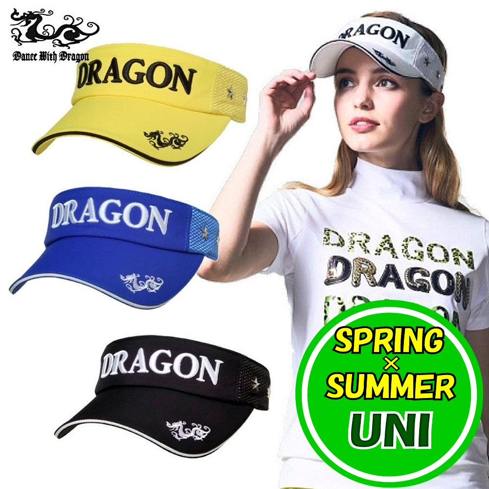 ダンスウィズドラゴン / DANCE WITH DRAGON (2020春夏新作!)スタースタッズバイザー (メンズ・レディース) ゴルフウェア/ポイント5倍!