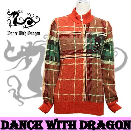 ダンスウィズドラゴン / DANCE WITH DRAGON(秋冬モデル!)ハーフジップセーター(レディース)ゴルフウェア/レディースウェア ダンス ウィズ ドラゴン/送料無料!