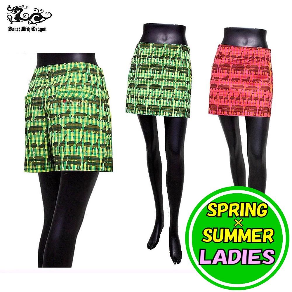 ダンスウィズドラゴン アニマルプリント スカートパンツ 春夏モデル!/ ゴルフウェア / レディース / DANCE WITH DRAGON