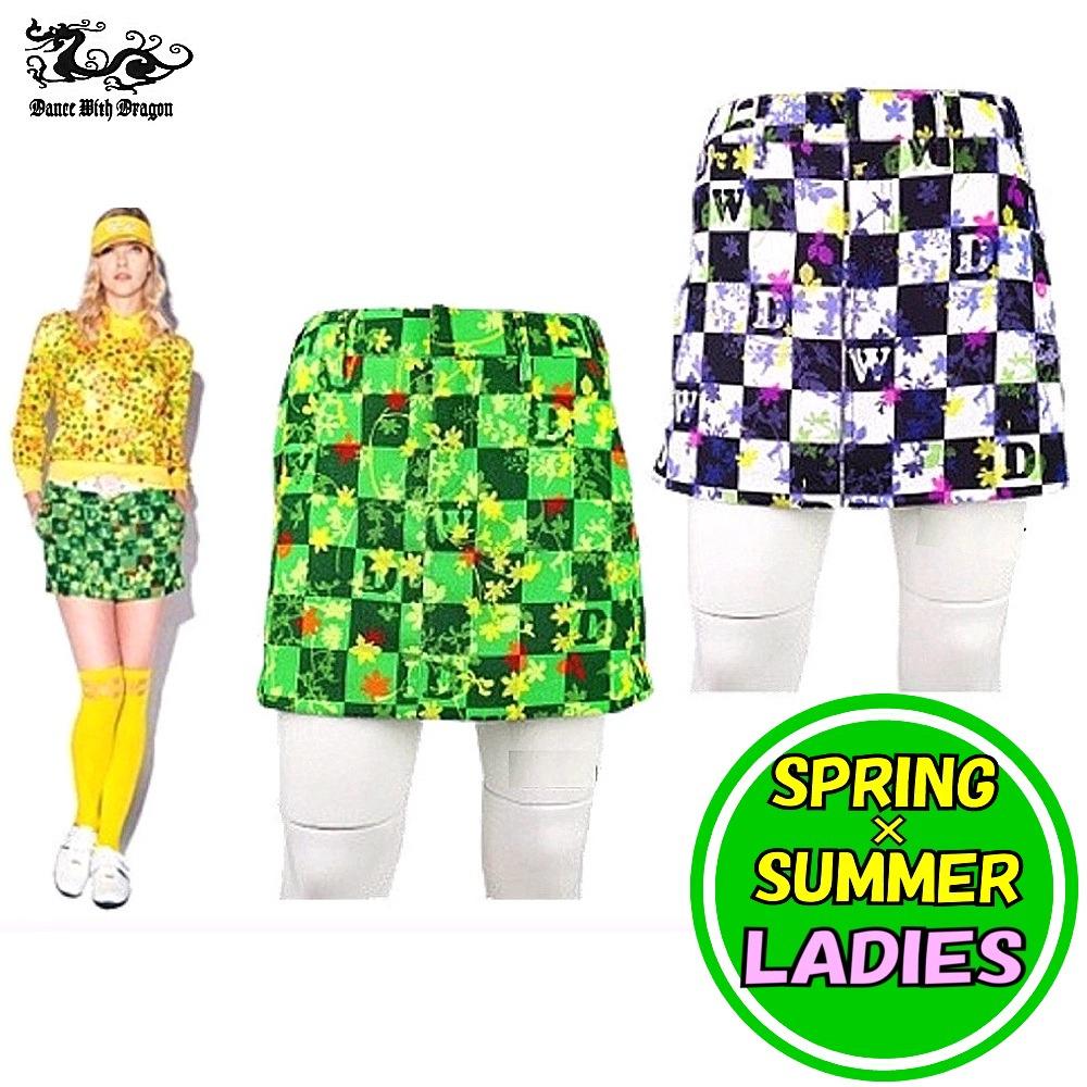 ダンスウィズドラゴン / DANCE WITH DRAGON(春夏モデル!)タミエフラワープリントスカートパンツ(レディース)ゴルフウェア ダンス ウィズ ドラゴン/14