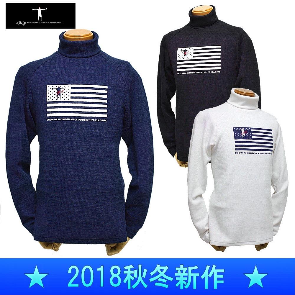 T-MAC / ティーマック(2018秋冬新作!)長袖タートルネックシャツ/保温・ストレッチ(メンズ)ゴルフウェア/ ポインント3倍!