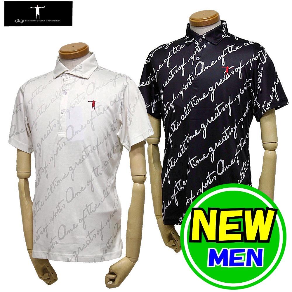 【30%OFF!セール】T-MAC / ティーマック(2020春夏新作!)半袖シャツ/ポロシャツ / ロゴプリント(メンズ)ゴルフウェア