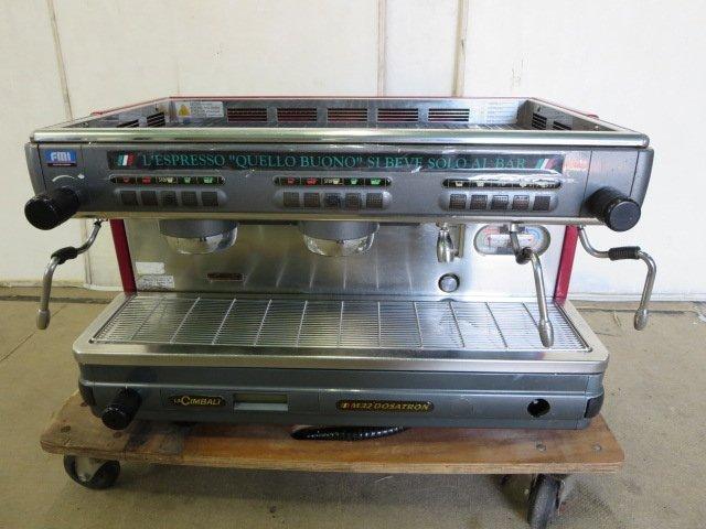 ◆チンバリ エスプレッソコーヒーマシン M32DO-DT/2 FMI/エフエムアイ[0607BI]7BY!-1【中古】