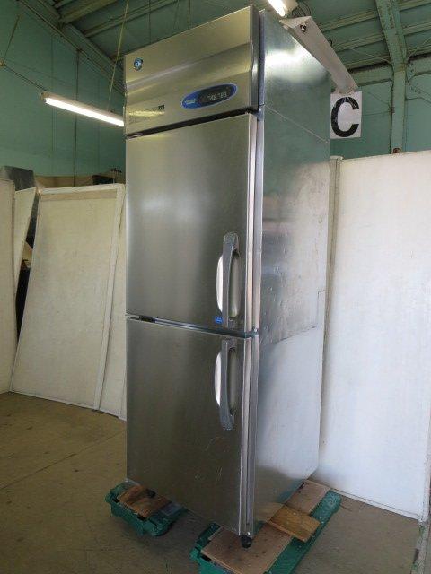 ホシザキ 業務用縦型2ドア 冷凍冷蔵庫 冷凍183L 冷蔵179L HRF-63ZT-ED 送料無料お手入れ要らず 中古 0801AI -1 サービス L 7CY