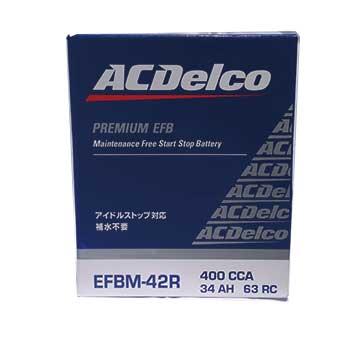 AC Delco バッテリー スズキ ワゴンR 型式MH34S H24.09~H29.02対応 EFBM-42R アイドリングストップ車対応 EFBシリーズ | 送料無料(一部地域を除く) ACデルコ メンテナンスフリー 自動車用 国産車用 カーバッテリー カー メンテナンス 整備 カー用品 交換用