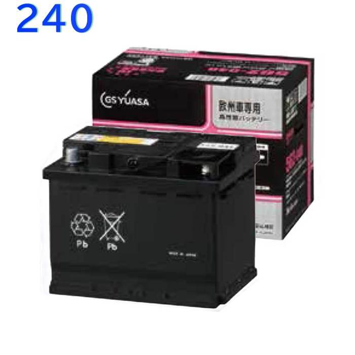 GSユアサバッテリー ボルボ 240 型式AB230W対応 EU-574-068 欧州車専用 高性能カーバッテリー   インポートカー用バッテリー 輸入車用バッテリー 外車用バッテリー バッテリー交換 YUASA ユアサバッテリー