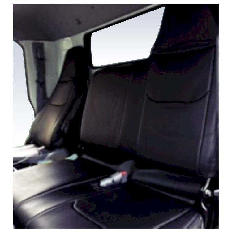 フロントシートカバー キャンター(ブルーテック) FEB FEC JA1205 ヘッドレスト一体型※助手席・中央席背もたれ一体ベンチタイプ 三菱ふそう