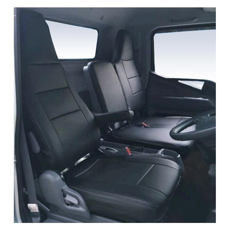 フロントシートカバー キャンター(ブルーテック) FEB FEC JA1206 ヘッドレスト一体型※助手席・中央席背もたれ一体ベンチタイプ 三菱ふそう|シートカバー ヘッドレスト トラック MITSUBISHI-FUSO みつびしふそう トラック用品 カスタム カーシートカバー 車