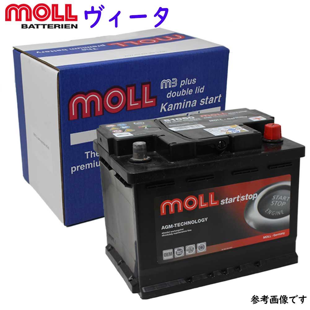 MOLL M3 plus バッテリー オペル ヴィータ 型式XG120 用 LBN2 | 送料無料(一部地域を除く) MOLL モル メンテナンスフリー 車用 輸入車用 バッテリー交換 バッテリー上がり カーバッテリー カー メンテナンス 整備 自動車 車用品 カー用品 交換用