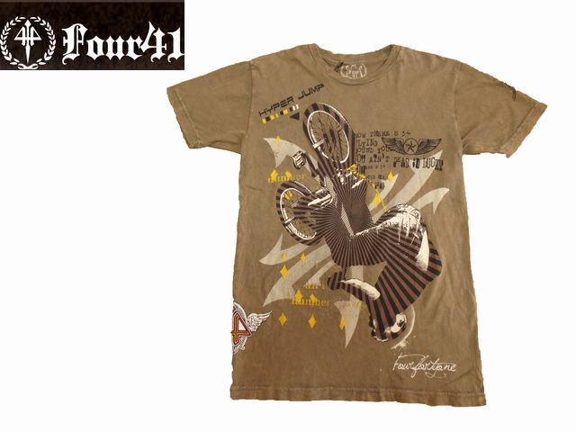 Four41 半袖Tシャツ 2931■f052631 フォーフォーティーワン インポート ブラック セレカジ 国内在庫 人気