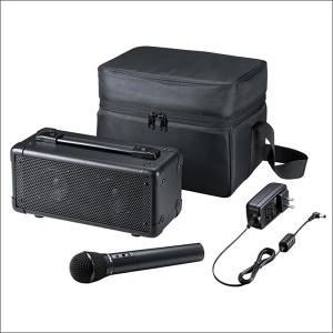 サンワサプライ ワイヤレスマイク付き拡声器スピーカー MM-SPAMP4会議や講義、イベントなどで手軽に使えるワイヤレスマイク付き拡声器スピーカー。02P05Nov16