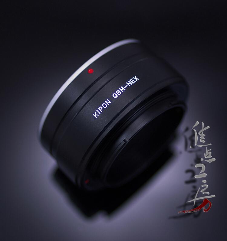 マウントアダプター KIPON QBM-S/E (QBM-NEX) ローライQBMマウントレンズ - ソニーNEX/α.Eマウントカメラ