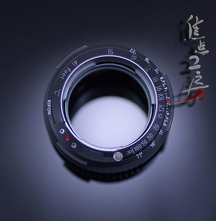 マウントアダプター KIPON CRF-m4/3 I 旧コンタックスC・ニコンSマウントレンズ - マイクロフォーサーズマウントカメラ