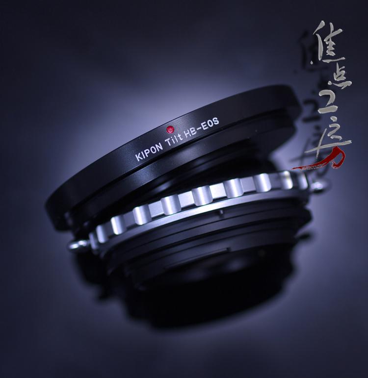 マウントアダプター KIPON TILT HB-EOS ハッセルブラッドVマウントレンズ - キヤノンEOSマウントカメラ アオリ(ティルト)機構搭載