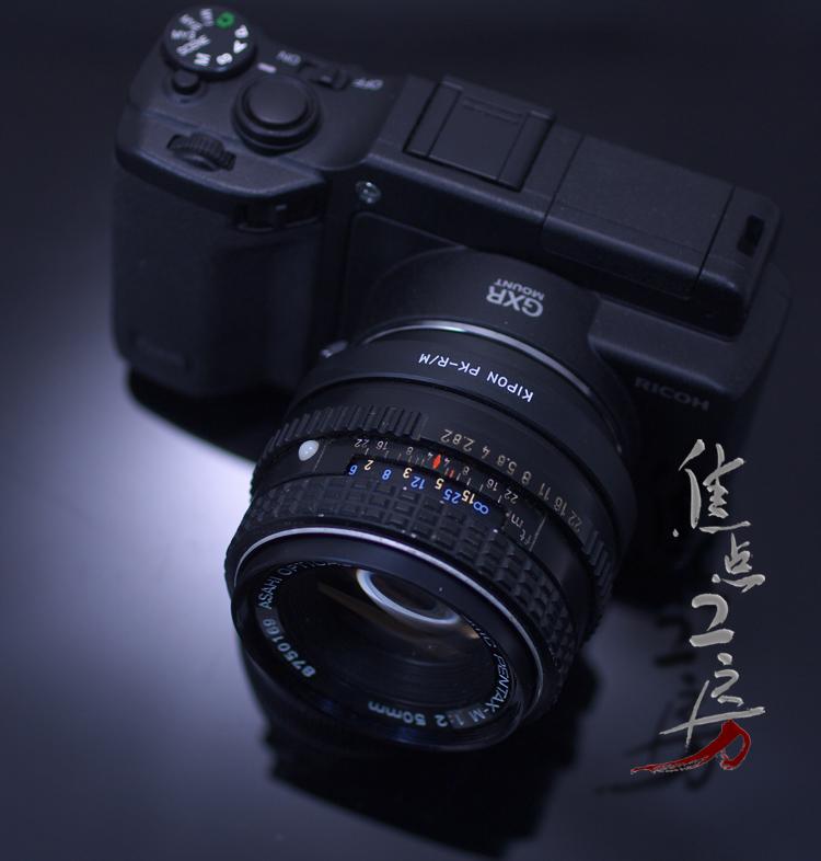 Made by KIPON... Pentax K マウントレンズーリコー GXR A12 / Leica M mount adapter