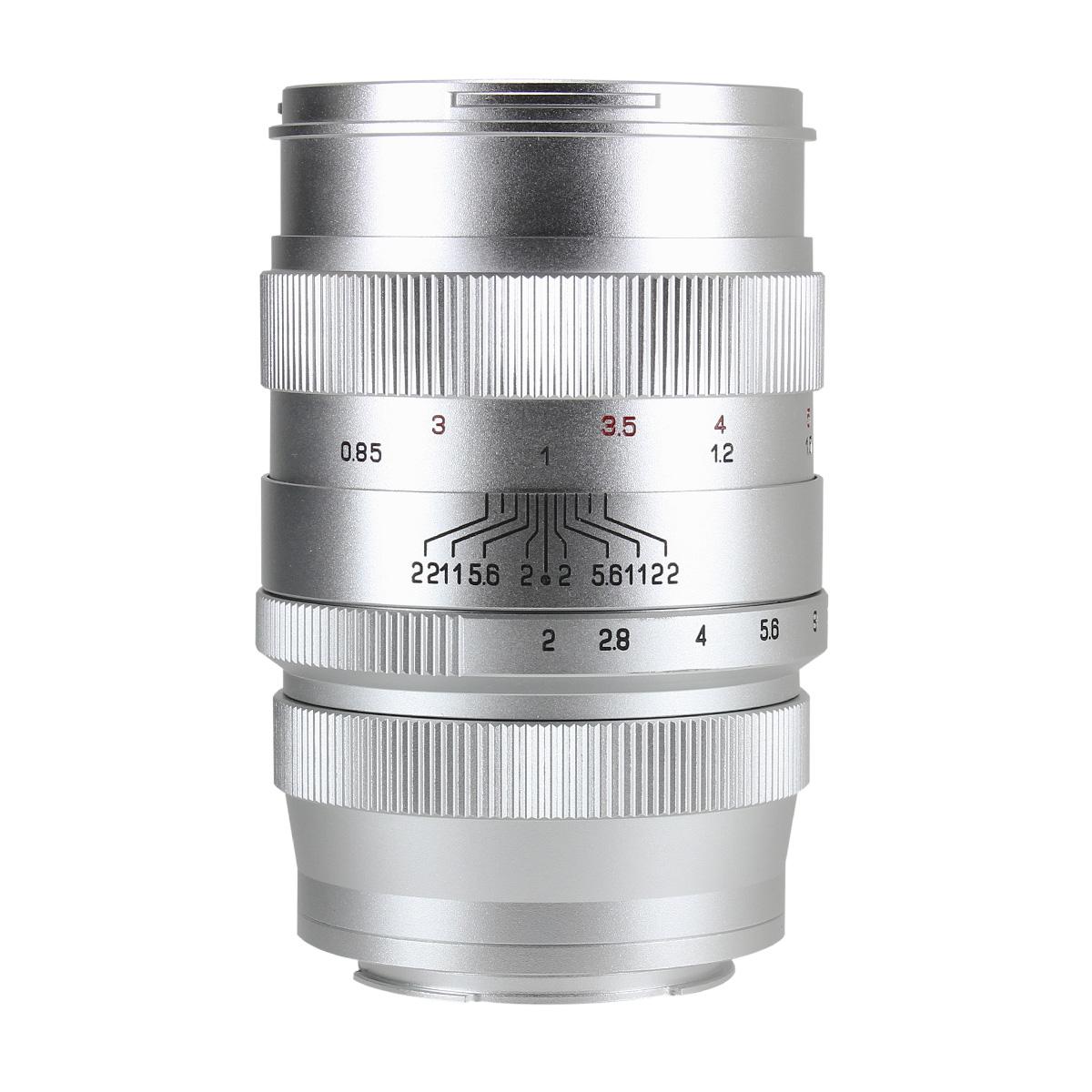 中一光学 CREATOR 85mm F2 シルバー ソニーEマウント 単焦点レンズ