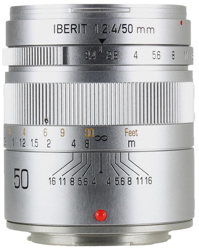 HandeVision IBERIT(イベリット) 50mm f/2.4 For FUJIFILM X (富士フィルムXマウント) シルバー