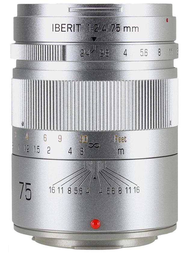 HandeVision IBERIT(イベリット) 75mm f/2.4 For FUJIFILM X (富士フィルムXマウント) シルバー
