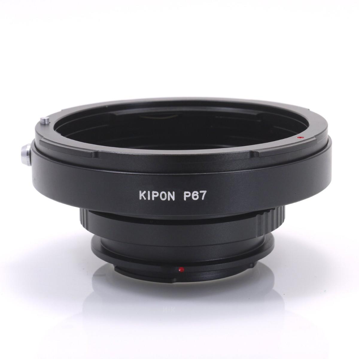 マウントアダプター KIPON P67-P/K ペンタックス67レンズ - ペンタックスKマウントカメラ