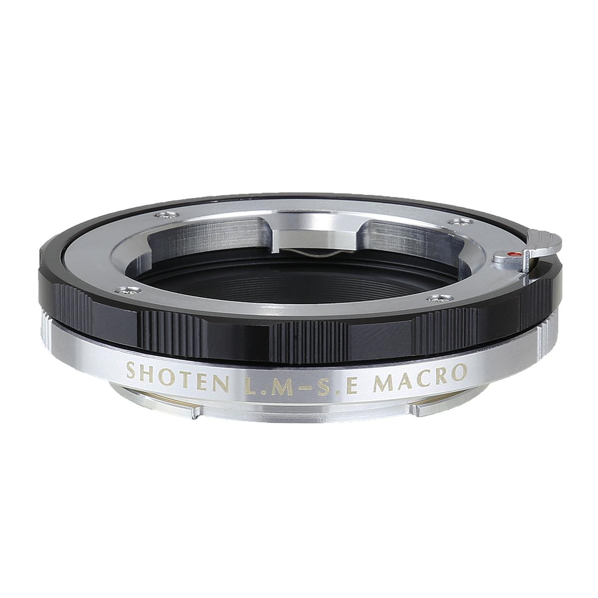 SHOTENマウントアダプター LM-SE M (B) ライカMマウントレンズ - ソニーEマウントカメラ マクロ(ヘリコイド付き) ブラック