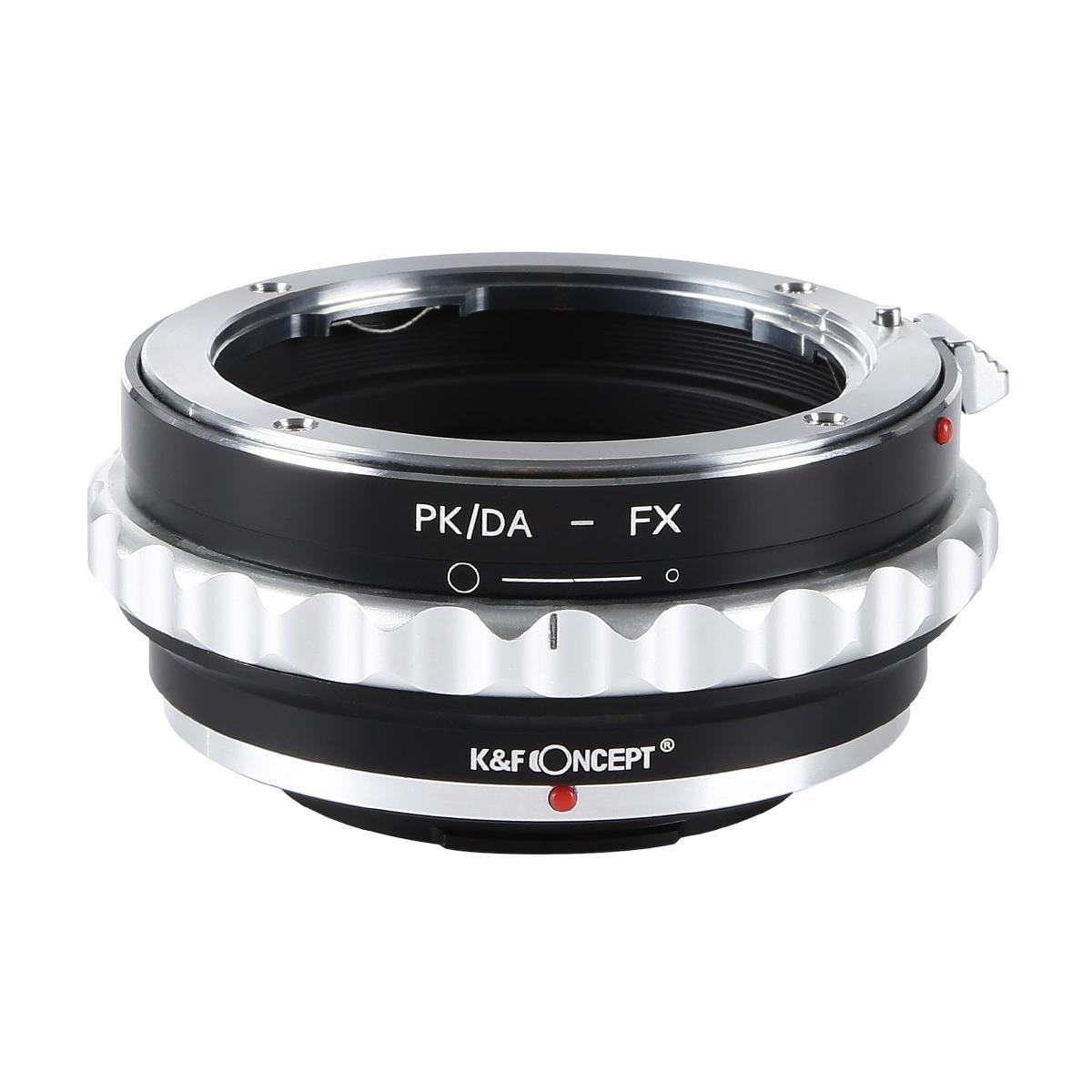 KF CONCEPT 予約販売 Concept レンズマウントアダプター KF-DAX ペンタックスKマウント DAレンズ対応 日本製 絞りリング付き レンズ 富士フィルムXマウント変換 →