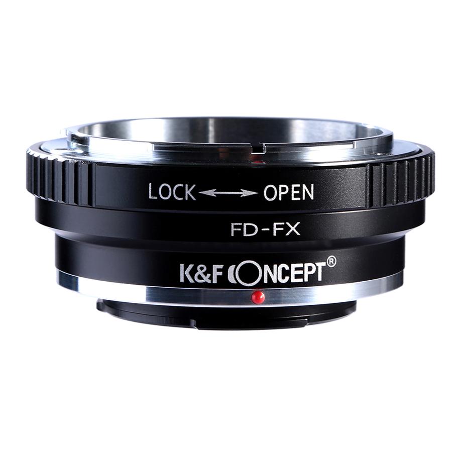 KF CONCEPT Concept レンズマウントアダプター KF-FDX キャノンFDマウントレンズ → 安全 富士フィルムXマウント変換 絞りリング付き 定番キャンバス