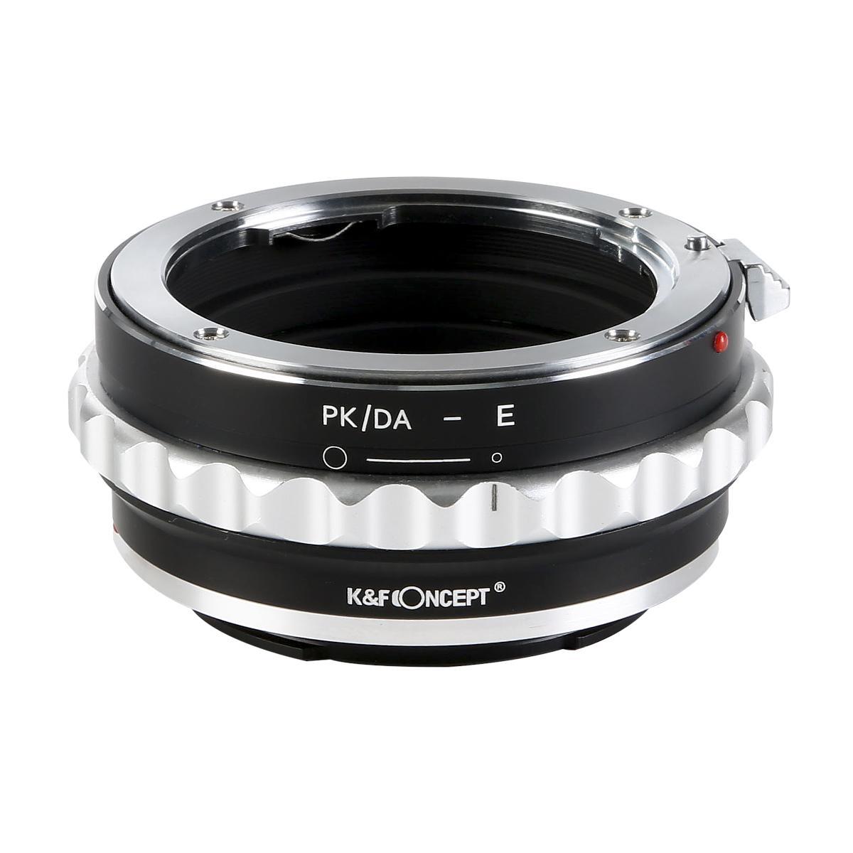 KF CONCEPT Concept レンズマウントアダプター KF-DAE ペンタックスKマウント ソニーEマウント変換 DAレンズ対応 レンズ 注目ブランド 新色追加 → 絞りリング付き