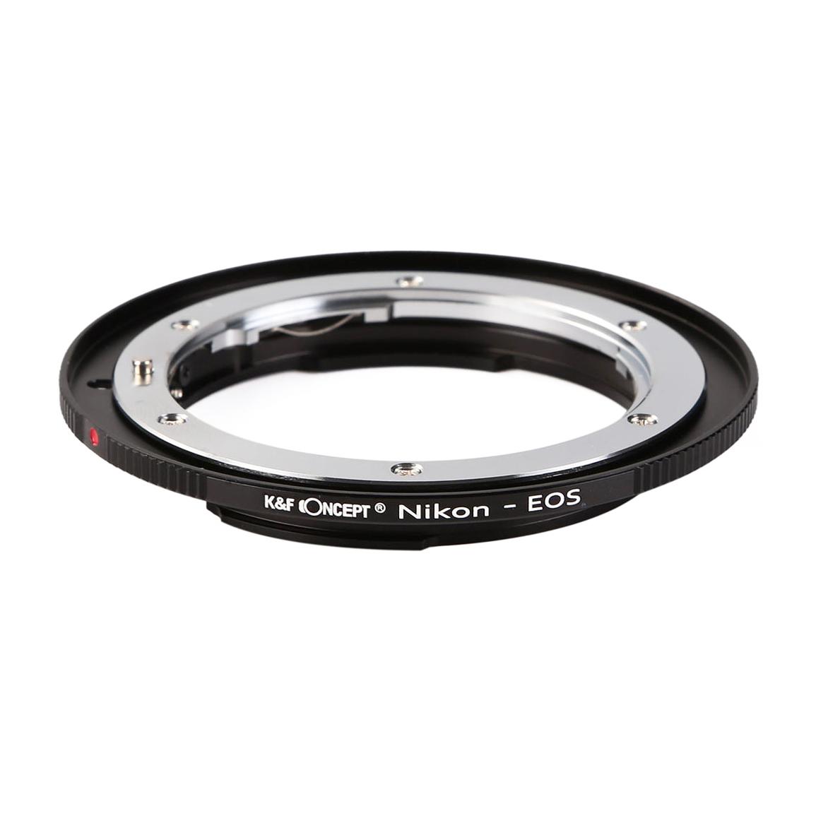 KF CONCEPT 予約販売品 Concept 在庫一掃 レンズマウントアダプター キャノンEFマウント変換 → ニコンFマウントレンズ KF-NFEF