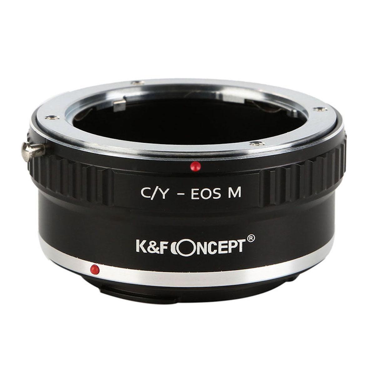 KF 新色追加して再販 CONCEPT Concept レンズマウントアダプター KF-CYEM → キャノンEF-Mマウント変換 ヤシカ 2020秋冬新作 コンタックスマウントレンズ