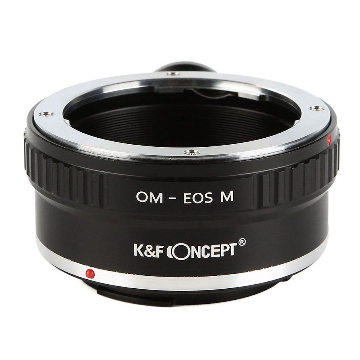 格安店 KF 実物 CONCEPT Concept レンズマウントアダプター KF-OMEM-T キャノンEF-Mマウント変換 オリンパスOMマウントレンズ → 三脚座付き