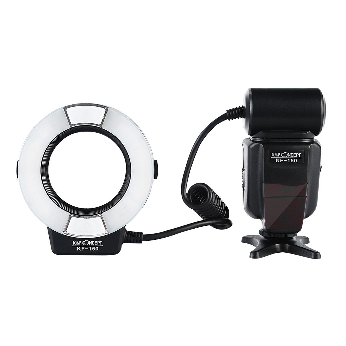 Canon用マクロリングフラッシュ KF-150C TTL対応[K&F Concept]