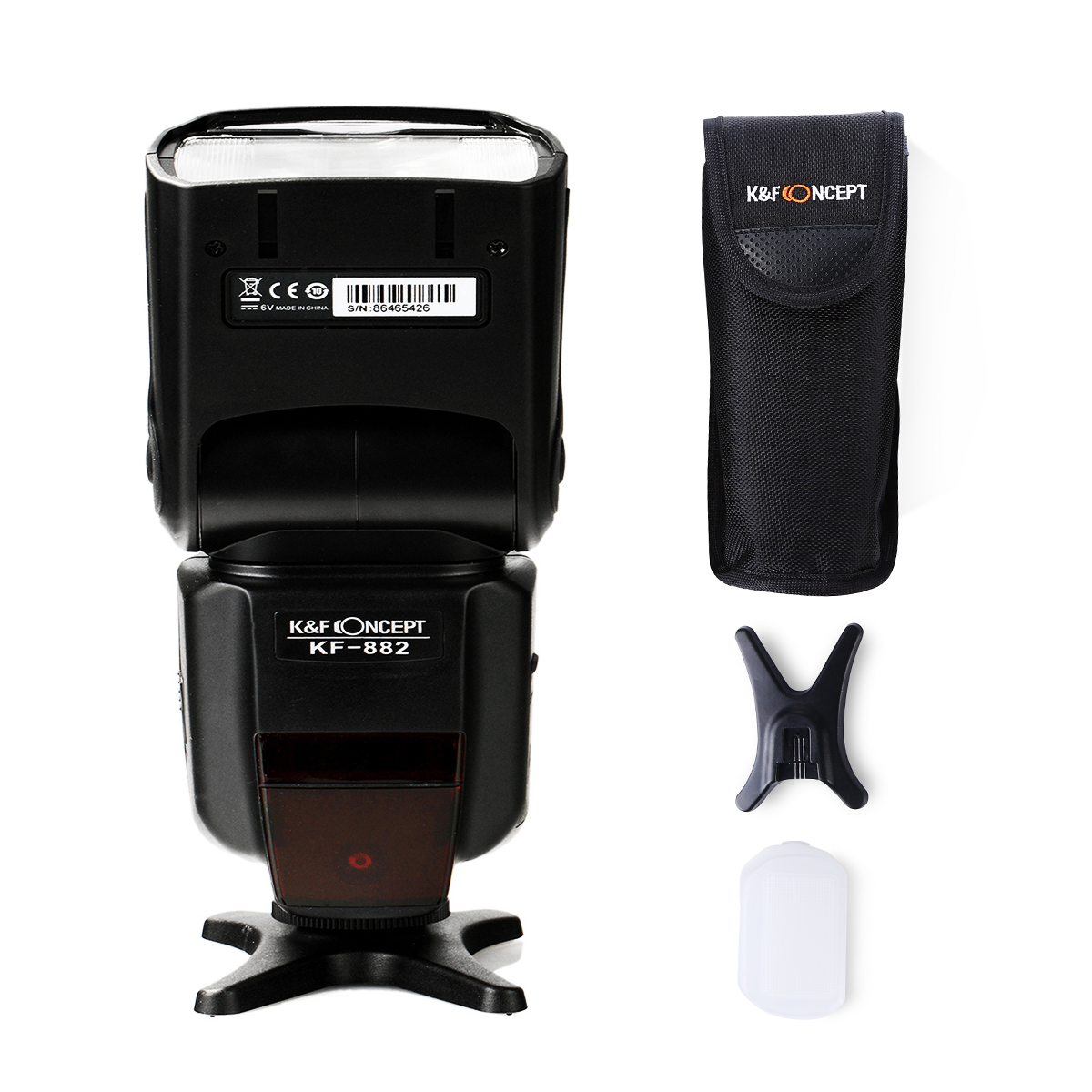 Nikon用フラッシュ KF-882N ハイスピードシンクロTTL対応[K&F Concept]