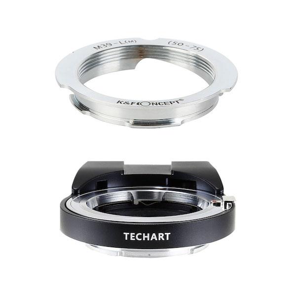 TECHART LM-EA7 + K&F Concept KF-LM-5075|ライカLレンズ50/75mm用マウントアダプターセット