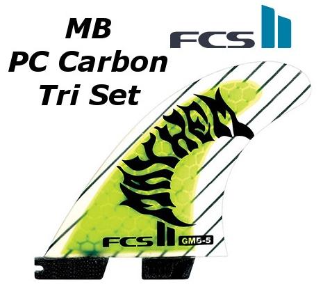 FCS2 FIN MB PC Carbon Tri Set 3FIN THRUSTER エフシーエス2 Matt 'Mayhem' Biolos マット・バイオロス メイヘム スラスター サーフィン フィン 送料無料★