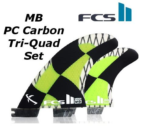 FCS2 FIN MB PC Carbon Tri-Quad Set 5FIN エフシーエス2 Matt 'Mayhem' Biolos マット・バイオロス メイヘム トライ クアッド サーフィン フィン 送料無料