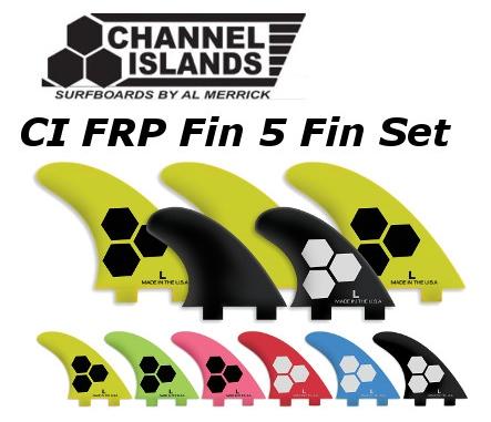 FCS★チャンネルアイランド CI FRP Fin 5 Fin Set 2TAB Tri-Quad CHANNEL ISLANDS 送料無料 アルメリック 5フィン トライ クアッド サーフィン