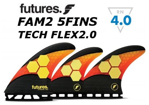 沸騰ブラドン FUTURES FIN TECH FLEX2.0 FAM2 5FIN トライクアッドセット 5フィン 5本セット フューチャーフィン テックフレックス, ますやみそ fe6d52ae