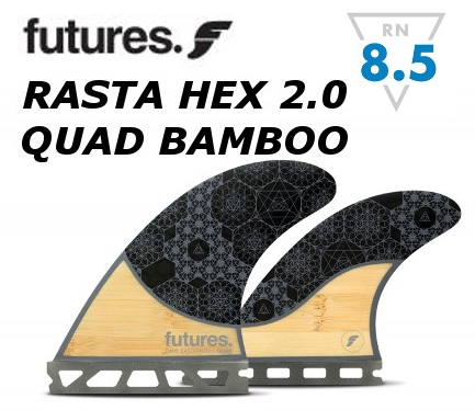 FUTURES FIN RASTA HEX 2.0 QUAD BAMBOO 4FIN クアッドセット 4フィン 4本セット フューチャーフィン バンブー Dave Rastovich