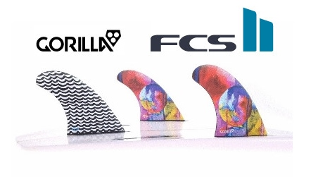 FCS2★GORILLA FIN Eat Sleep Wave Repeat Tri Set 3FIN FCS2 トライ スラスター サーフィン ショートボード用フィン
