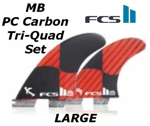FCS2 FIN MB PC Carbon Tri-Quad Set LARGE 5FIN エフシーエス2 Matt 'Mayhem' Biolos マット・バイオロス メイヘム トライ クアッド サーフィン フィン 送料無料