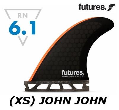 FUTURES FIN XS JOHN JOHN RTM HEX2.0 3FIN トライセット 3フィン 3本セット フューチャーフィン ジョンジョン・フローレンス ワールドチャンピオンシグネーチャー