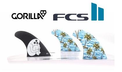 【超歓迎】 FCS2★GORILLA FIN Sloth Palm Shank Tri Fin Set 3FIN FCS2 トライ サーフィン ショートボード用フィン, ミクモチョウ 0e223f6c