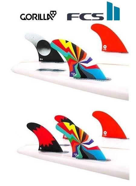 FCS2★GORILLA FIN DARKSIDE HYPER BLAM Tri-Quad Fin Set 5FIN FCS2 トライ クアッド サーフィン ショートボード用フィン