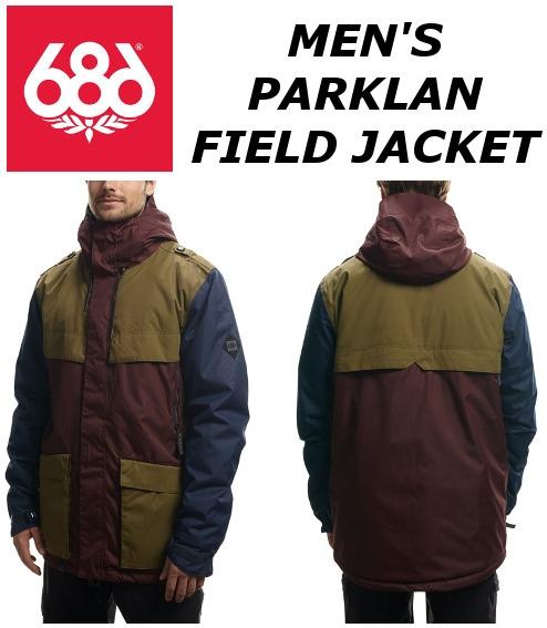 16-17 686 MEN'S PARKLAN FIELD INSULATED JACKET 送料無料 SIXEIGHTSIX シックスエイトシックス メンズ フィールドジャケット スノーボードウェア カラー/BLACK RUBY COLORBLOCK