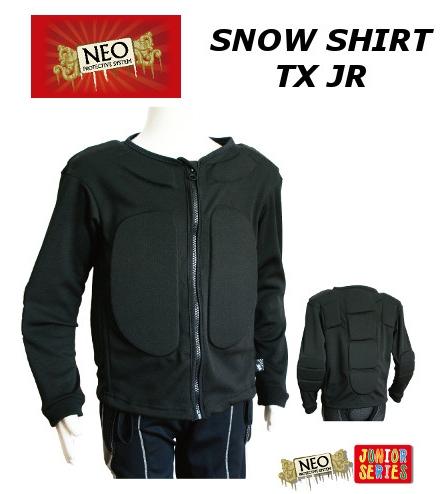 送料無料 営業 通気性がUP 子供用プロテクター NEO SNOW PROTECTIVE SHIRT 大規模セール TX JR スノープロテクティブシャツ スキー ジュニア ネオ 子供用 プロテクター BS043 ティーエックス スノーボード
