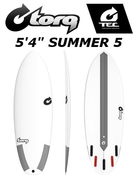 5'4 SUMMER 5 TORQ SURFBOARD トルクサーフボード EPOX エポキシ